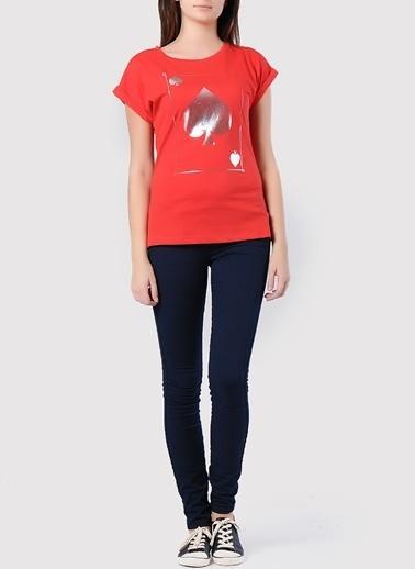 Asymmetry Tişört Kırmızı
